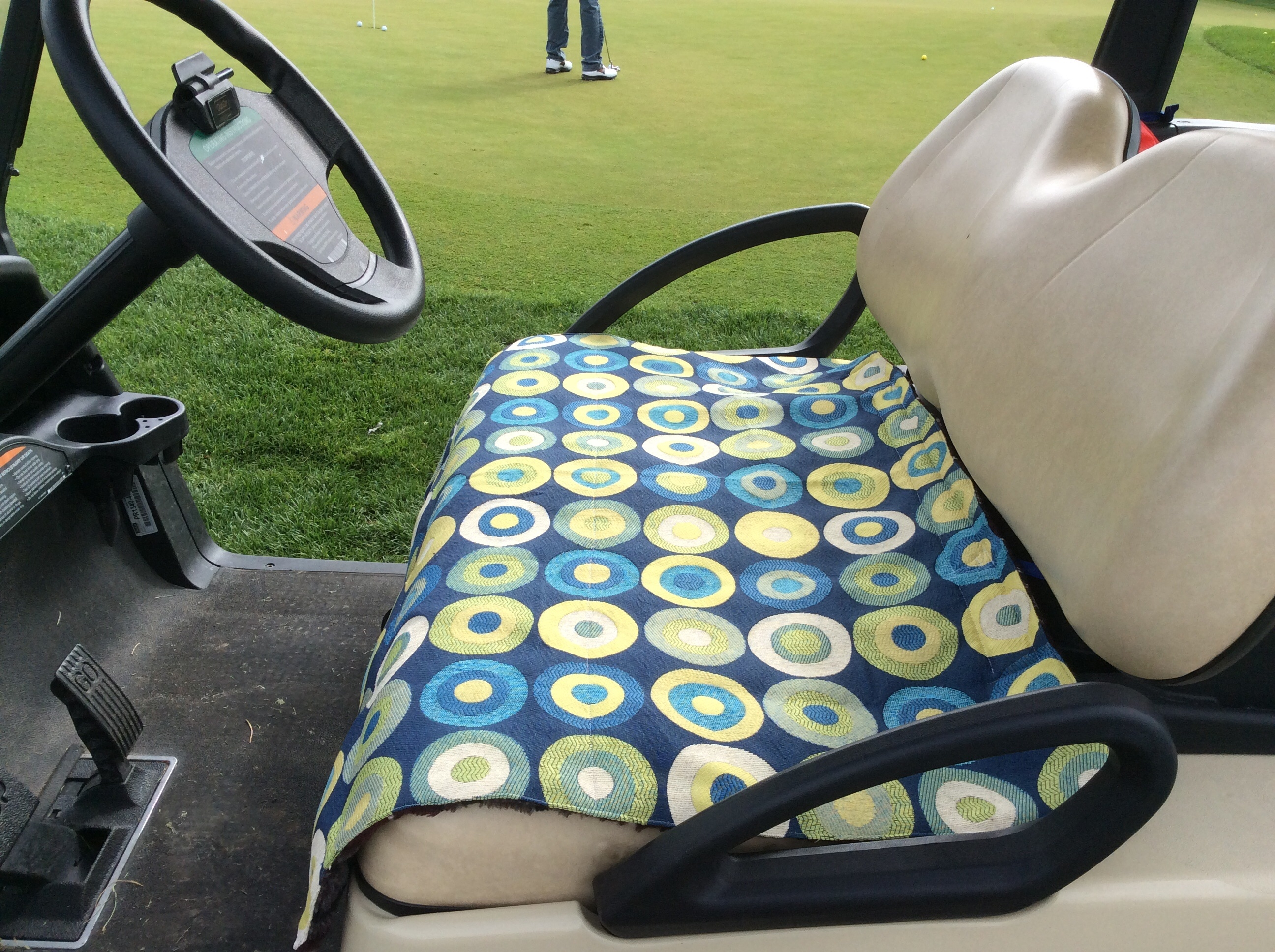 make your own golf car seat cover. Black Bedroom Furniture Sets. Home Design Ideas