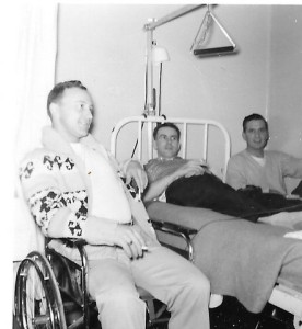 Bob Galloway and John Weisshaar visiting Doc at the Regina General Hospital