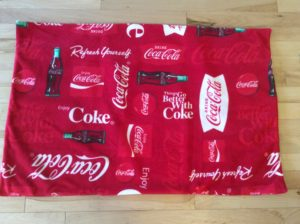 Coke is it with the golf car seat cover I made for my daughter, Bridget